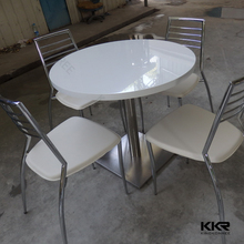 KKR new design customized solid surface cheap cafe table tops and bases