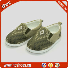 Customized bulk production children canvas shoes china factory custom made shoes for kids