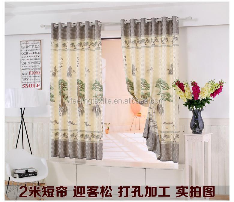 Cartoon curtain short curtain kids curtain buy cartoon for Crest home designs curtains