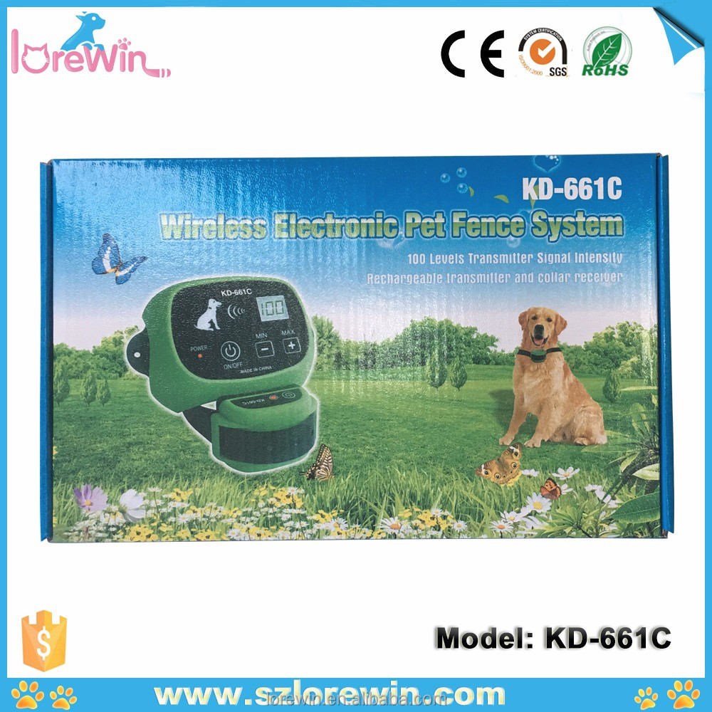 China cheapest and good quality wireless Rechargeable LCD display Electic Dog Fence