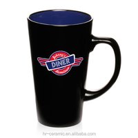 Black can be customized logo creative ceramic cup