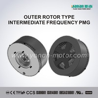 OUTER ROTOR TYPE INTERMEDIATE FREQUENCY PERMANENT MAGNET GENERATOR