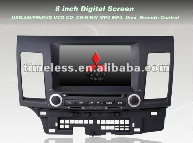 Mitsubishi Lancer Car DVD with GPS Bluetooth Steering Wheel Control ipod