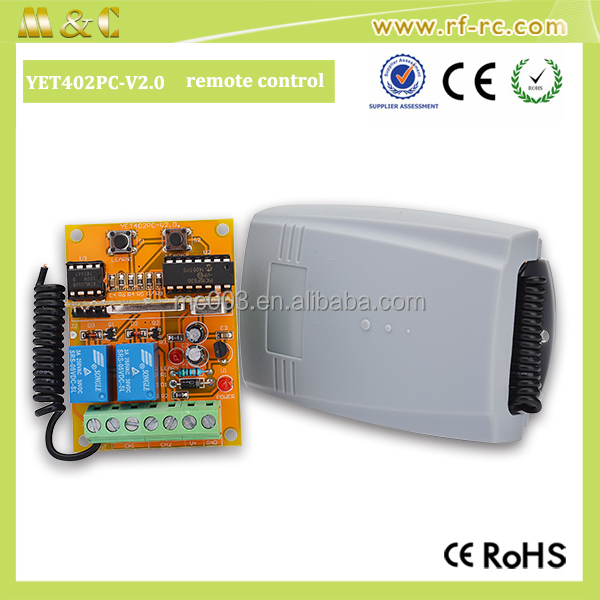 High sensitivity remote control for roller shutter motor controller 315/433.92 MHz