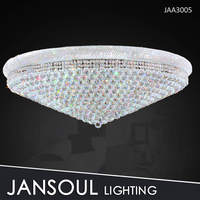 Custom size large modern crystal ceiling light for hotel lobby