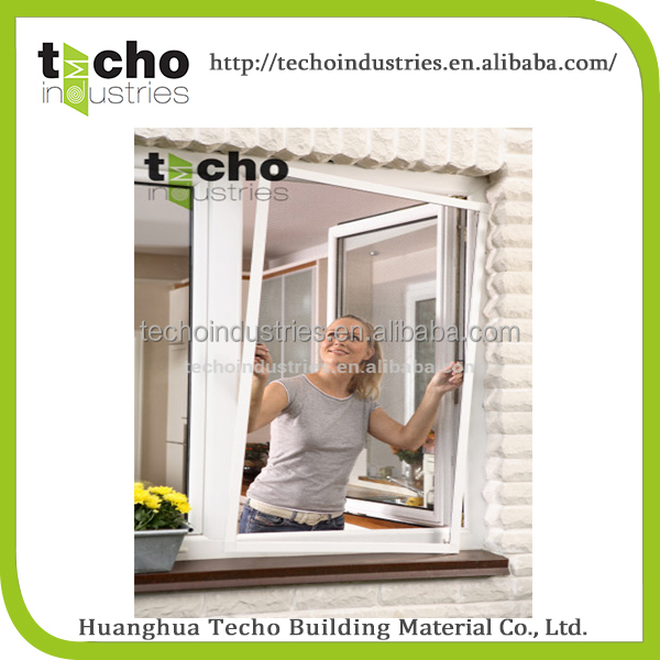 High quality 100x120cm,120x140cm White Aluminum frame mosquito net window , fiberglass window screen