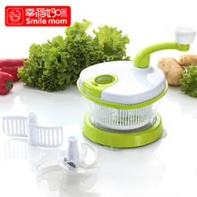 Creative kitchen manual hand crank vegetable chopper multifunction fruit speed shredder food chopper