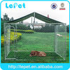 Large outdoor 10x10x6 ft galvanized chain link classic dog breeding cages