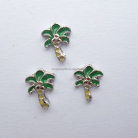 Enameled Coconut Tree Floating Charms Fits Glass Locket Wholesale