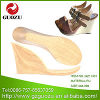 Ladies pu outsole materials to make sandals