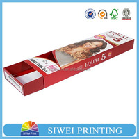 wholesale promotional boutique logo printed recyclable reusable foldable custom made cheap hair extension packaging box