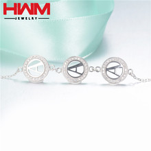 Low MOQ friendship silver bracelets From China supplier