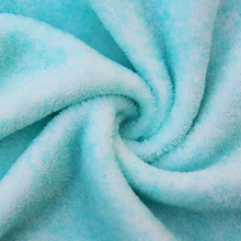 100%polyester tie dyed double-colored cationic shu velveteen sherpa fleece fabric for robe ,garment,toys,blanket,home textile