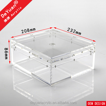 Durable Magnet Acrylic Box Storage For Toy