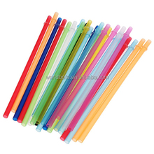 BPA Free 9inch Reusable Hard Striped Plastic Drinking Straws
