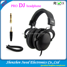 Top quality pro dj studio headphones with punchy sound hot sale in 2014
