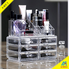 hot new products for 2016 6 drawer acrylic makeup organizer