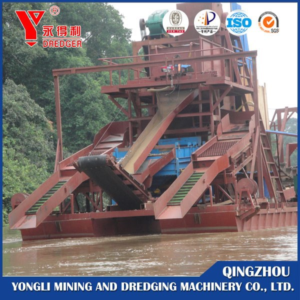 2017 China Made Bucket Ladder Gold Dredge Price