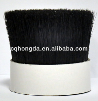 Black Mixture Bristles with tapered filament