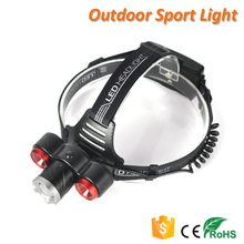 T6 LED Rechargeable Headlight Aluminum Zoom Headlamp for Camping Walking Fishing