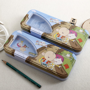 Best sale pencil case for kids metal tin box stationery box