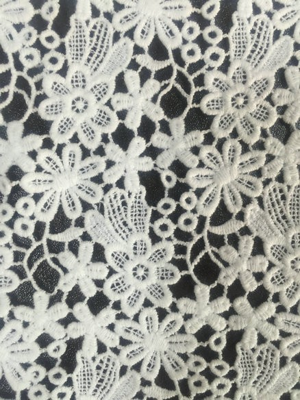 heavy cotton chemical lace fabric