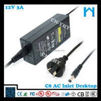electric power transformer 12v 3a/12v power adapter 12v 3a/power supply for massage chair