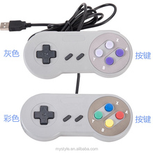 Purple Button USB for Super Nintendo Classic SNES Retro Controller for Windows PC/MAC