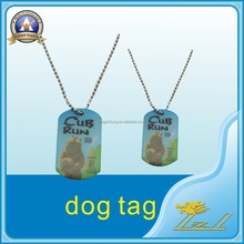 Aluminum pet id dog tag with printed logo