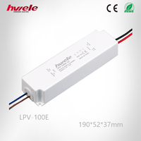 LPV-100E LED constant voltage waterproof 12V/24V LED driver high efficiency dc power supply 3 years warranty