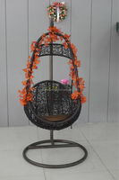 PE rattan egg swing garden chair for outdoor LRC54