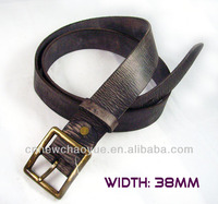 Popular design snake skin genuine leather belt
