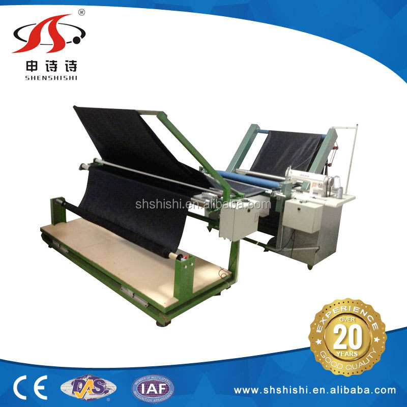 Factory SSPS-317 automatic folding leather cloth sewing machine fabric splitting machine