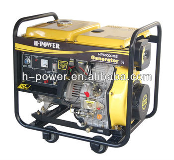 hot sale OPEN TYPE 5KW 5KVA 5000WATT DIESEL PORTABLE GENERATOR