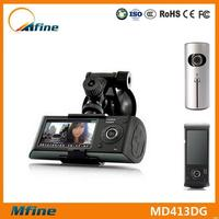 Car black box dual cameras gps,new products with g-sensor&gps dual cameras car video recorder,2 channel car dvr