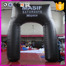 black color inflatable arch for sports decoration advertising