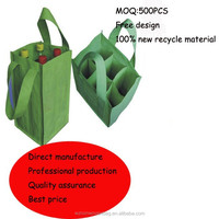 6 bottles promotional non woven wine bag