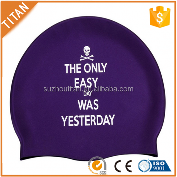 Original Picture and Design Latex Funny Swimming Cap For Adult