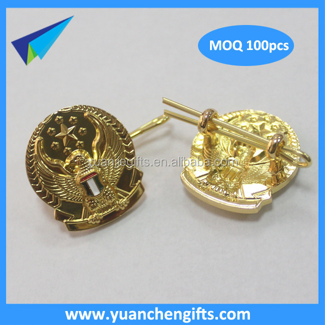 2016 free design custom made blank lapel pins with rubber clutch