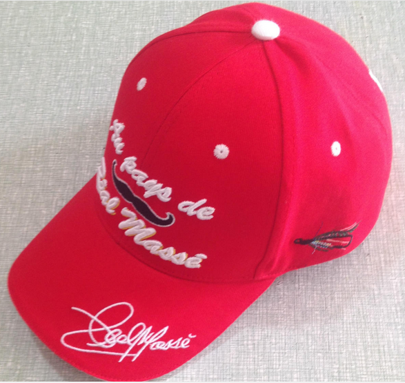 Sample of advertisement product baseball cap Full panels letters embroidered baseball cap with sandwich brim golf cap