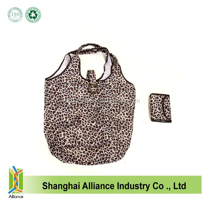Full color printing Cute animal handle bags cute shoulder folding purse fashion foldable shopping bags
