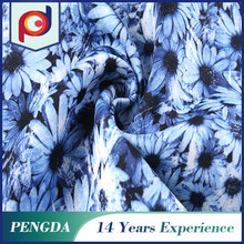 China wholesale 2015 new Floral Polyester printed knitting fabric