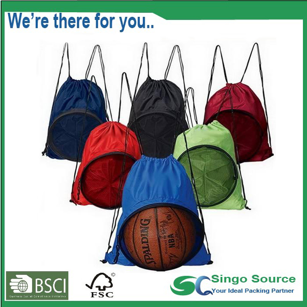 Outdoor Sports Gym Soccer Ball Drawstring Bag