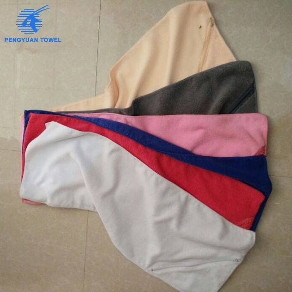 Microfiber Gym Towel With Zip: Custom Made Printed Microfiber Fitness Gym Towel With Mesh