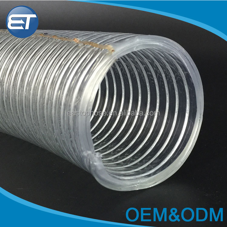 Customized anti-static water supply spiral braided pvc steel wire hose clear transparent stainless electric wire flexible hose