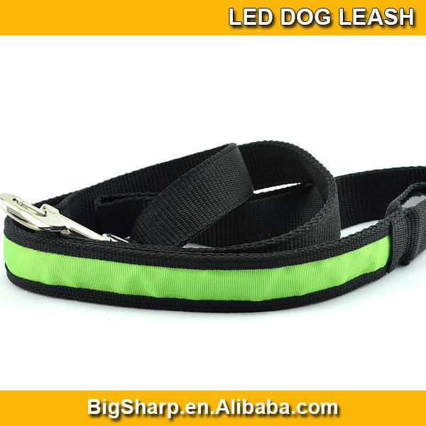 New arrival Wholesale dog leash lead/ Pet Collar Flashing LED Lighted Dog lead, Dog Harness/Pet Leashes DL-2501