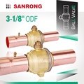 SR Refrigeration Ball Valve Brass, Copper Tube Welded Air Conditioner Ball Valve