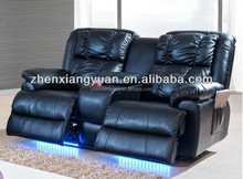 electric cheers leather sofa recliner with LED light