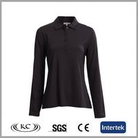 trendy sale online 100%cotton black women uniform long sleeve shirt
