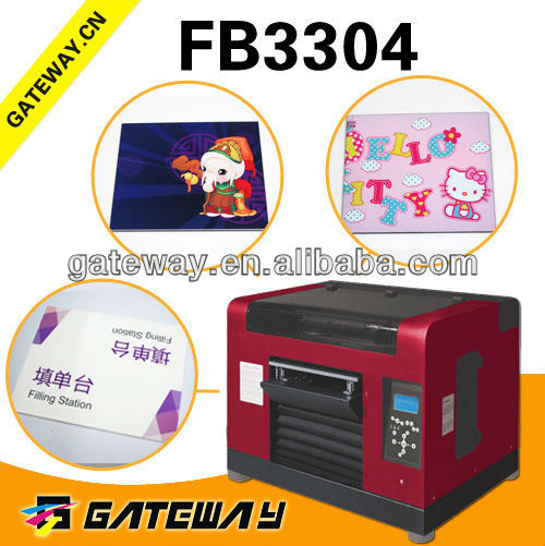 cheap plastic card printer pet/pvc/pp film printer,pet sheet printer Plastic PVC Gift Card Digital Printing machine